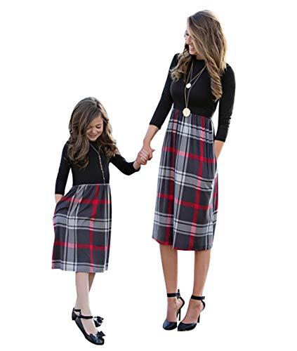 Loalirando Schönes Mutter Tochter Kleider Matching Outfits Patnerlook Kleid Prinzessin Kleid (M, Mama)