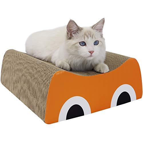 Roomingcare 猫爪とぎ オシャレ 大型 つめとぎ 猫目線タイプ 強化ダンボール 安定 頑丈 サイズ40×32.5×13 cm