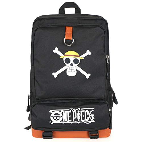 CoolChange Mochila de One P. con Jolly Roger de la tripulación de Piratas Sombrero de Paja