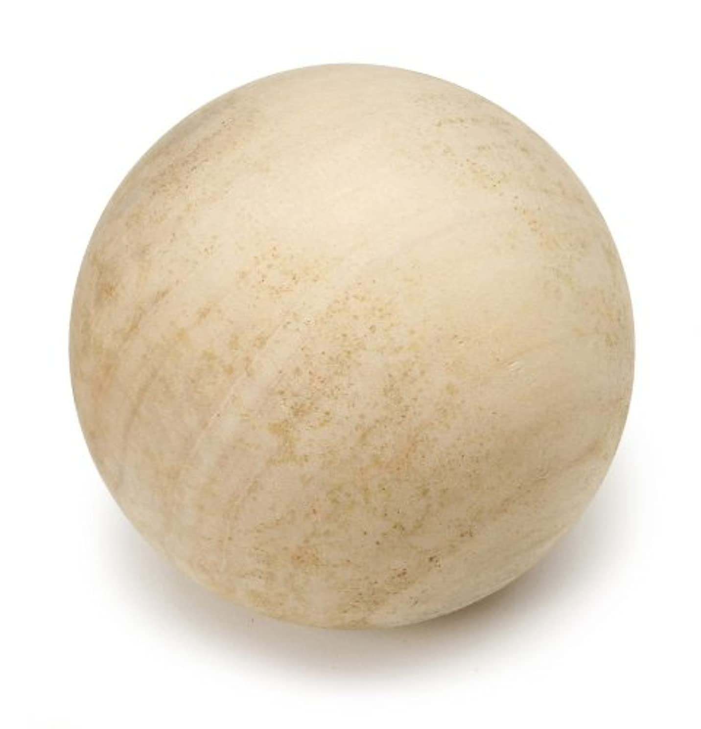 """Darice Unfinished Wood Round Ball, 3"""" (1pc) – Ideal for Numerous Craft Projects – Smooth, Solid Hemu Wood Ball – Natural Unfinished Wood is Easy to Decorate"""