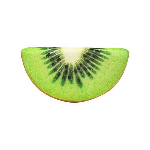 jingyuu Kiwi Plüsch Kissen niedlichen Flauschigen Obst Plüschtier Geschenk Sofa Dekoration (39x19x7cm)