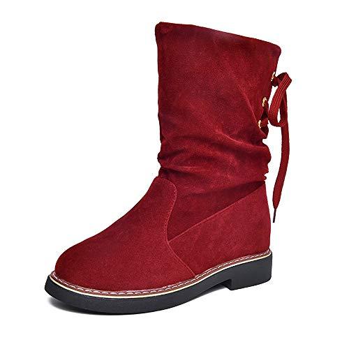 Frauen Flock Winter Martin Mitte Kalb Schnee Stiefel Schuhe Warme Schuhe