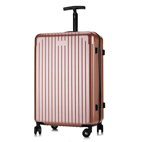 LSYOA Ultraleggere Bagaglio Valigia, con 4 Silenzioso Rotelle Pivotanti Business Trolley Valigia Allungabile valigie Viaggio,D_22in