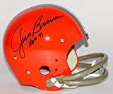 Jim Brown Cleveland Browns Signed Autograph TK 2 Bar Full Size Replica Helmet HOF Inscribed Tristar Authentic...