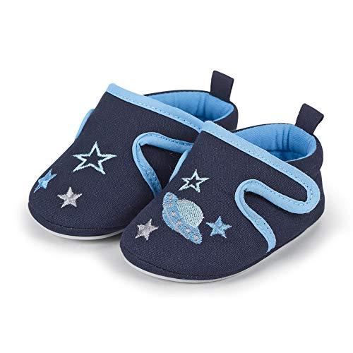 Sterntaler Jungen Baby-Krabbelschuh Slipper, Blau (Marine 300), 18 EU