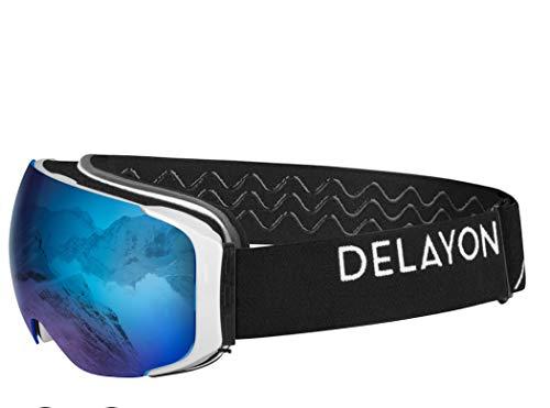 Unbekannt Skibrille Explorer Goggle Brillentauglich (OTG) schwarz/blau