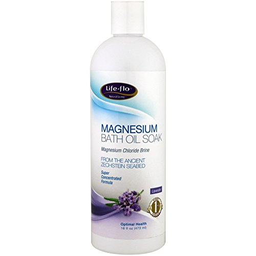 Life-flo Magnesium Bath Oil Soak, Lavender Scent | Potent Magnesium Chloride Soothes & Relaxes Muscles & Joints | 16oz