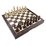 W.Z.H.H.H Tablero de ajedrez Chess International Set Plegable de plástico con Tablero de ajedrez magnético Tablero portátil Tablero de Viaje Juego niños