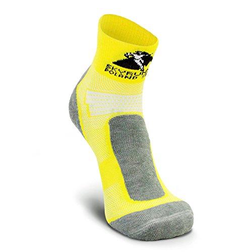 Nordhorn Chaussettes de course pour homme et femme - Respirantes - Pour la course, le jogging, le fitness (jaune, 35-37)