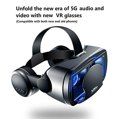heling896 VR Brille Langlebige Virtual-Reality-Brille Im Vollbildmodus Mit Einem Großen Headset, Kompatibel Für IOS, Für Android Für 5 Bis 7 Zoll Smartphone