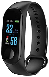 CamKpell M3 Smart Bracelet Color Screen IP68 Waterproof Heart Rate Blood Pressure Monitor Replaceable Watch for Android iO...
