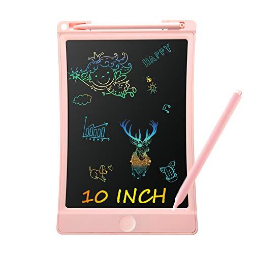 VIDA4U Tableta de Escritura LCD 10 Pulgadas, Tablero de Dibujo Colorido para Niños, Tableta Electrónico Portátil para Niños y...