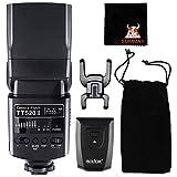 Godox TT520II GN33 Thinklite Speedlite Flash con señal inalámbrica de 433MHz para Canon Nikon Pentax Olympus DSLR