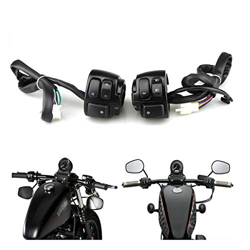 Interruptor para manillar de motocicleta, 25 mm, interruptor de mano adecuado para control de encendido de claxon