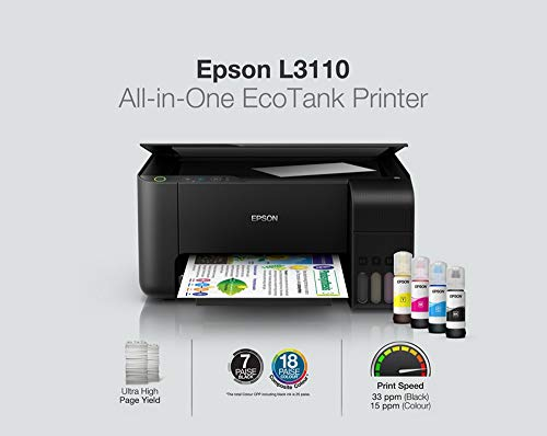 Epson EcoTank L3110 All-in-One Ink Tank Printer (Black)
