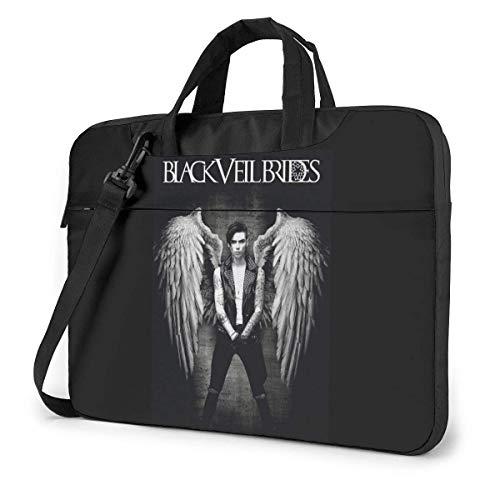 Shoulder Messenger Bag,Black Veil Brides Andy Laptop Shoulder Backpack,Protective Business Messenger Bags For Family Friends,38x28.5x2cm