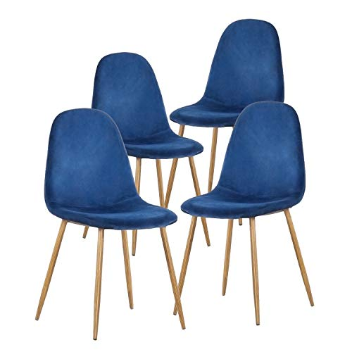 GreenForest Dining Chairs for kitchen, Mid Century Modern Side Chairs,Velvet Upholstered Dining...