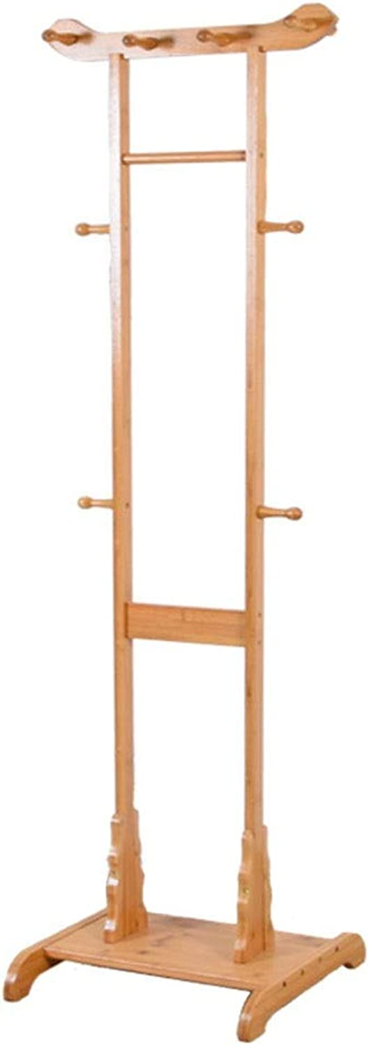 XIAOLONG Coat Stand Simple Bamboo Clothes Rack Hat Coat Rack for Hat Jacket Coat Clothes Tree Floor Hanger Living Room Bedroom Entryway -45