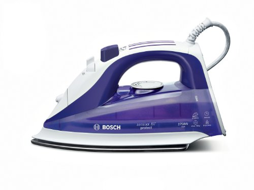 Bosch TDA7677 Sensixx B7 Protect - Plancha de vapor (2750 W, base deslizante, apagado automático, base protectora de tejidos)