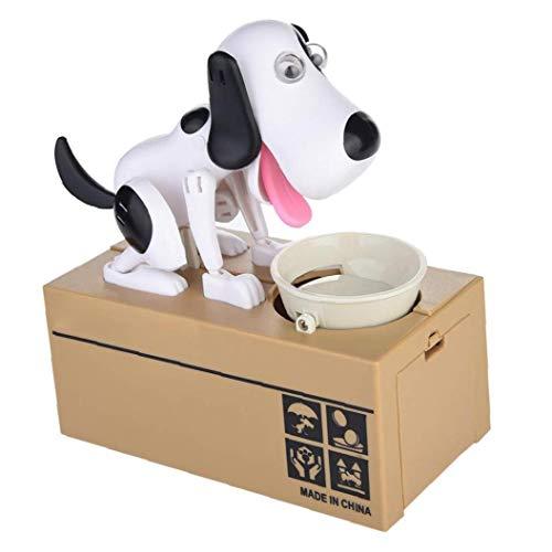 ruanxiangdong Choken Bako Robotic Dog Bank Doggy Münze Bank Canine Geld-Kasten Schwarz-Weiss