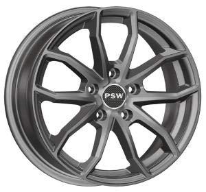 PSW Llantas de aleación de 16 pulgadas para Audi A3, A4, BMW 2, Mercedes Clase A, B, Mini Seat Leon Skoda Yeti Volksw Golf Passat Tiguan 6,5jX16 5x112 ET42 72,2 Miami Antracita