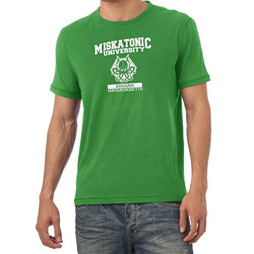 Texlab Herren Miskatonic University T-Shirt, Grün, XL