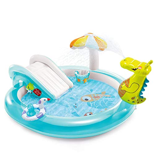 XIHAI Piscina Hinchable Rociable Juguetes Agua ProteccióN Ambiental PVC Gran Garden Juegos 203 * 89 Cm Tobogan para Piscina Piscina para NiñOs con TobogáN para Adultos Bebé NiñOs