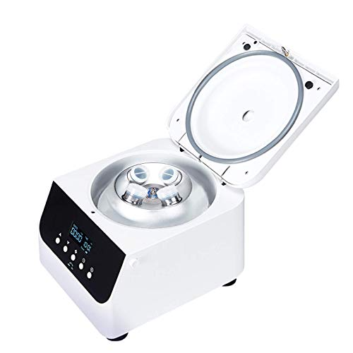 JIAWANSHUN PRP Centrifuge Machine Digital Benchtop Centrifuges for Blood Laboratory School Beauty Salon 0-4000RPM 0-99min Timer 100mlx4 Roators 110V