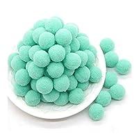 MIYU PomPomのソフトPomponesふわふわぬいぐるみ工芸ポンポンPOMSボール毛玉のホームインテリア手芸用品20グラム (Color : Light green, Size : 15mm 150pcs)