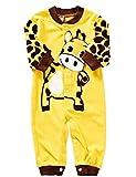 Binwwe Babystrampler Unisex Baby Schlafstrampler Strampler Mädchen Junge Einteiler Schlafanzug Baby Kleidung Strampelanzug Baby Neugeborenen Set Babybody Langarm Babykleidung Set (6-9M, D)