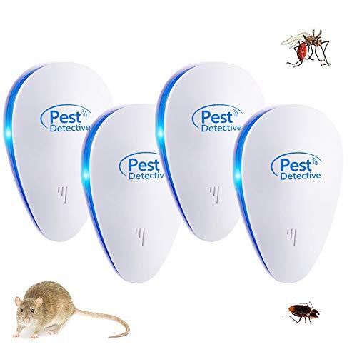 Nitoer (2019 Version), Bienenfalle, Fliegenfalle, Gerät gegen Mäuse, Kakerlaken, Ameisen, Spinnen, 100 % ungefährlich (4 Paket), Weiß