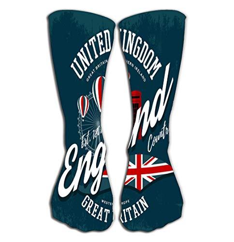 GHEDPO Chaussettes Hautes Knee High Fun Socks for Women 19.7\