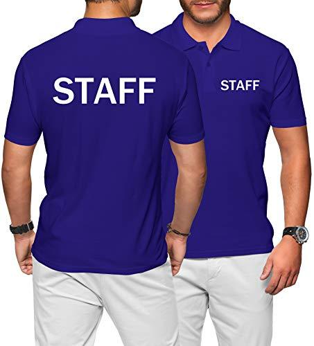 Purple Print House Herren Poloshirt – Uniform Arbeitskleidung für Ihn – Event Bar Worker Werbeartikel Gr. 56, königsblau