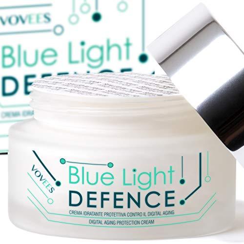 VOVEES BLD9 Crema Antirughe Donna Viso e Mani Anti Luce Blu ai 9 Principi Attivi - Made In Italy