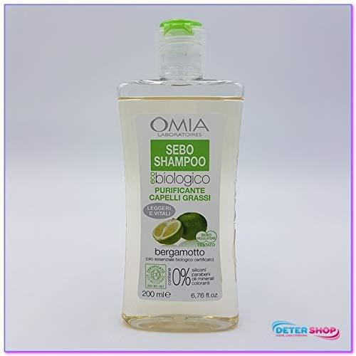 Omia Shampoo Sebo reinigend Haar Fett Bergamotte 200ml