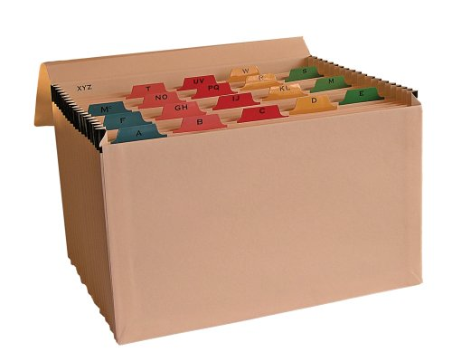 A-Z - Clasificador fuelle pestañas multicolores