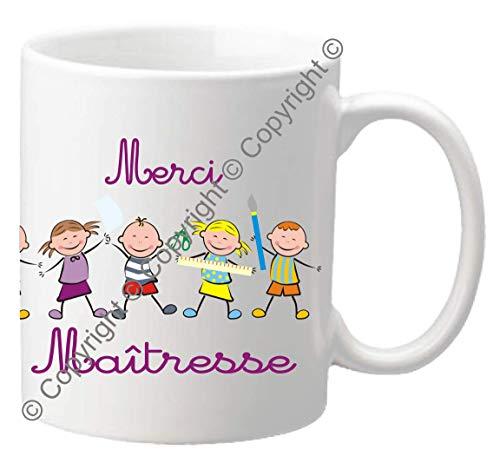 Mug Merci MAITRESSE - Le Cadeau Original de Fin d'Année Scolaire. L'école est finie ! Vive les Vacances !