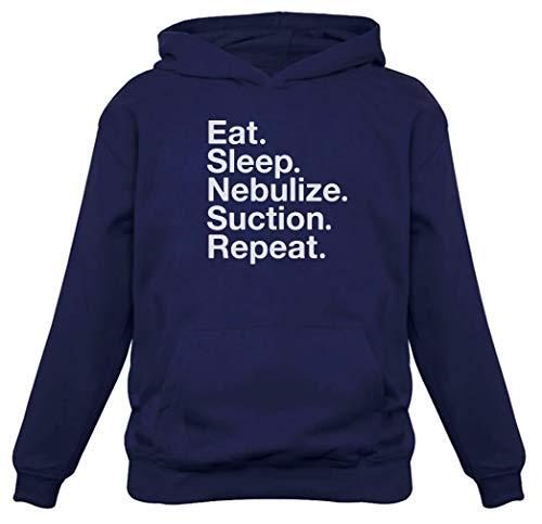 Moletom com capuz feminino Respiratory Therapist Gift Eat Sleep Nebulize Suction Repeat, Azul, L