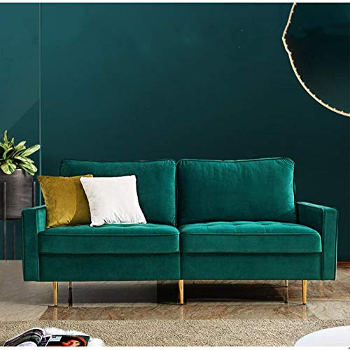 SANGDA 2-Sitzer-Sofa, modernes Samt-Sofa, hochdehnbar, Samt, Plüsch-Sofa, Lounge, Couch, Liegestuhl, für Wohnzimmer, Empfangsraum, Schlafzimmer, Büro, Wohnheim