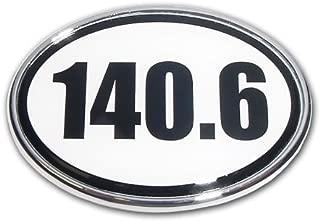 Elektroplate Ironman White 140.6 Oval Auto Emblem