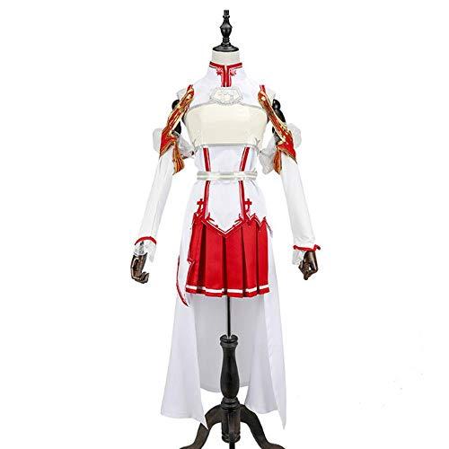 Lydia's Anime Cosplay Ropa Sword Art Online Asuna Cosplay Batalla Traje De La Etapa del Vestido XL