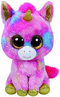 Colourful 3D Big Eye Animal Stuffed Furry Unicorn Plush Toy