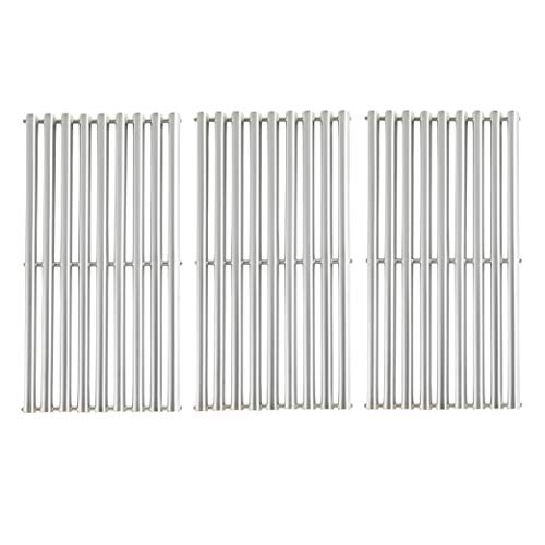 BBQration 3-Pack 16 7 8  Half-Tube Design Stainless Steel Cooking Grid Grates Replacement for Charbroil G432-1800-W1,463436213, 463436214, 463436215, 463420508, Master Chef 85-3100-2, and More