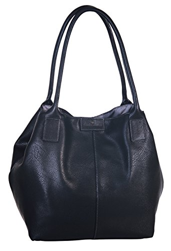 TOM TAILOR Damen Taschen & Geldbörsen Shopper Miri in Leder-Optik schwarz/black,OneSize