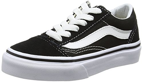 Vans Old Skool, Sneaker Unisex-Bambini, Nero (Black/True White 6bt), 34 EU