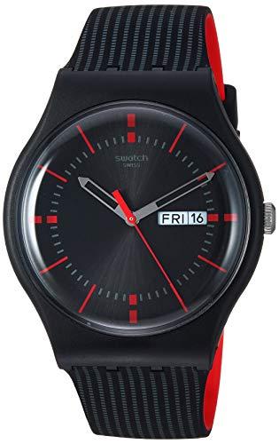 Swatch High-Lands Mix - Correa de silicona de cuarzo, color negro, 20 relojes casuales (modelo: SUOB714)