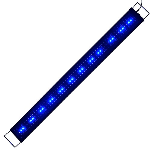 Aquarien Eco Aquarium Beleuchtung LED Aquarium Aufsatzbeleuchtung LED Beleuchtung Fisch Tank Leuchte Blau + Weiiß Lampe für Meerwasser Süßwasser Aquarium Beleuchtung LED 2835SMD 120cm A156