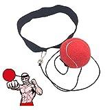 Ueasy, palla da allenamento per migliorare la velocità, il coordinamento, i riflessi e l'abilità, per boxe, gym boxing, arti marziali miste e altri sport da combattimento, Red