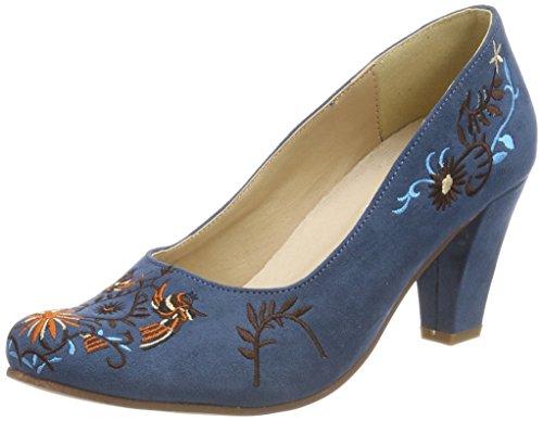 Hirschkogel Damen 3545709 Pumps, Blau (Jeans/Kombiniert), 41 EU