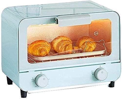 Loxzjyg Horno de horno eléctrico multifuncional Máquina de torta multifuncional para hornear a domicilio 9L Temperatura de capacidad + Control de tiempo Pizza Alitas de pollo multifunción Horno eléctr